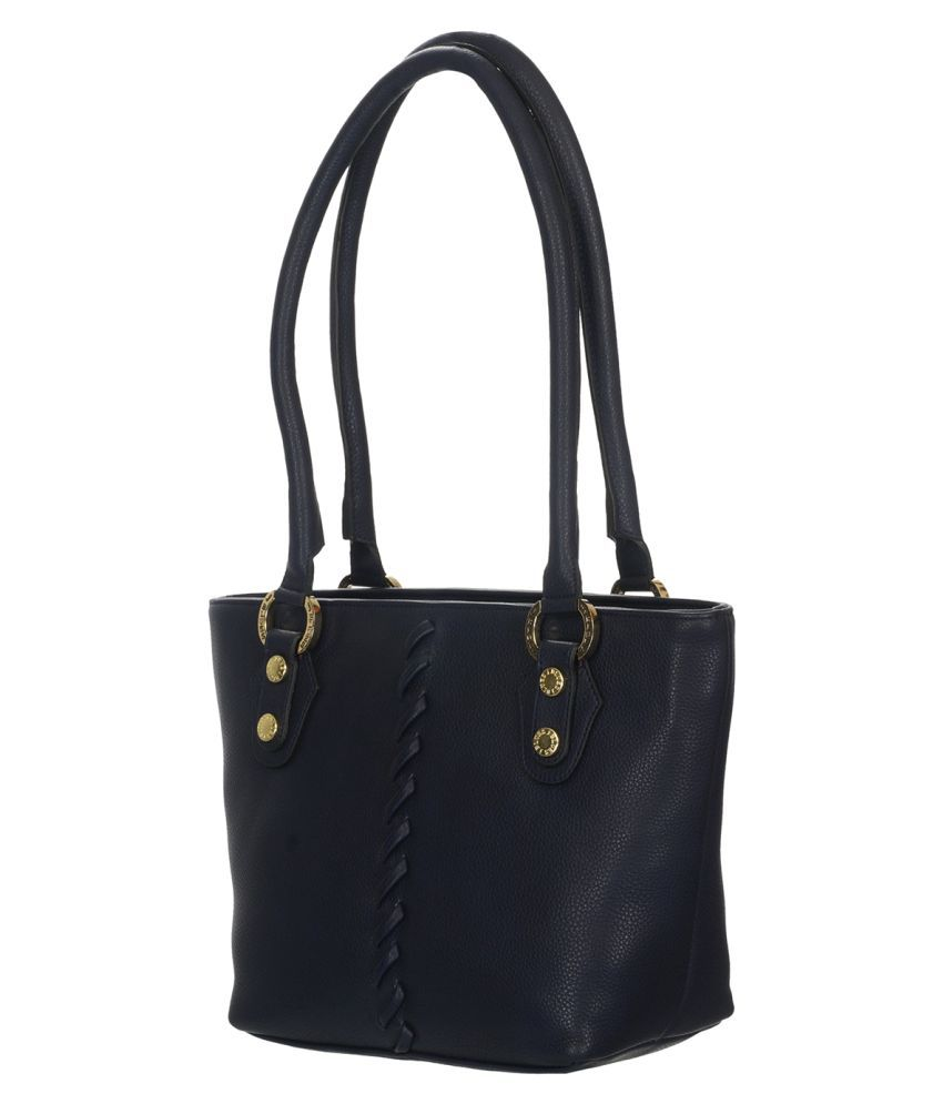 T&T Black Fabric Shoulder Bag