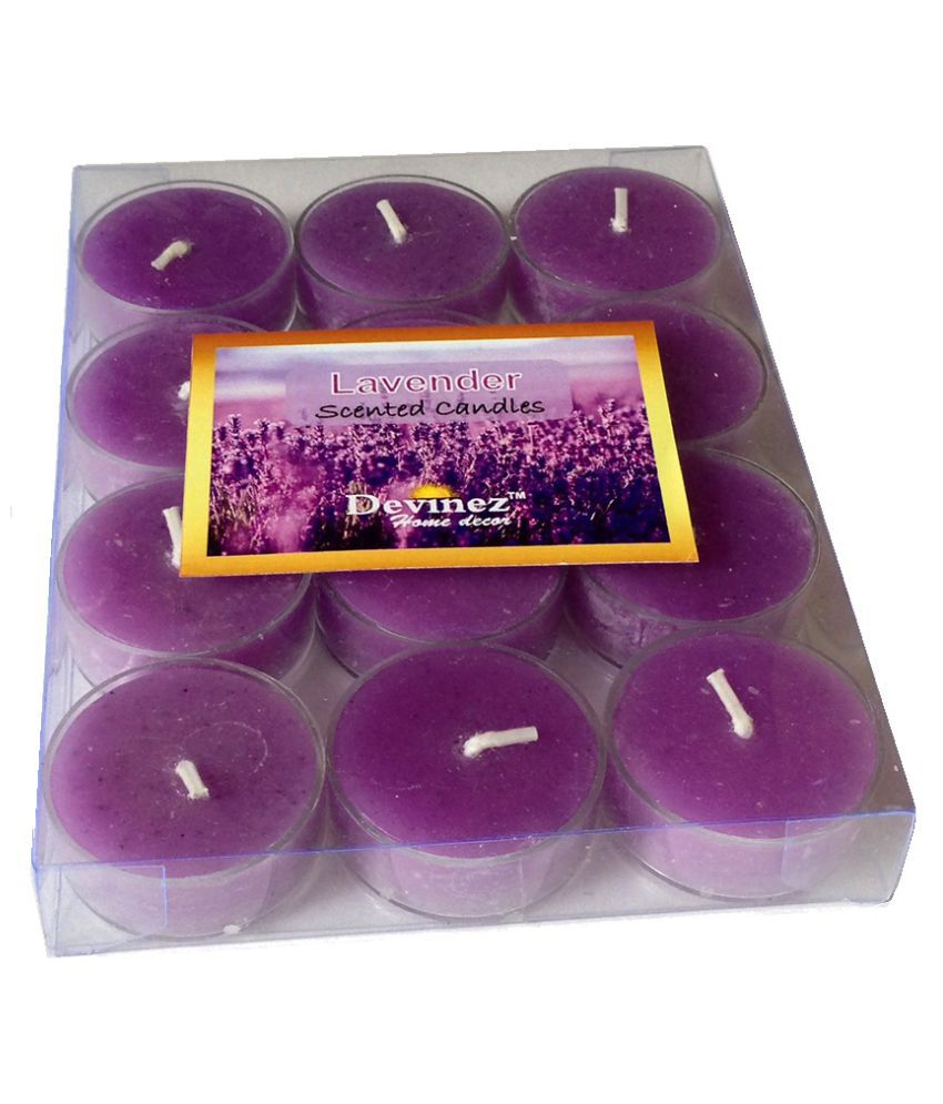 Devinez Purple Tealight Candle - Pack of 12