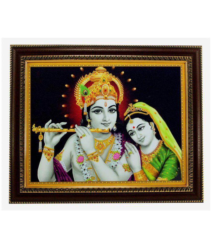 Indianara MDF Radha Krishna Religious Paintings With Frame Single Piece