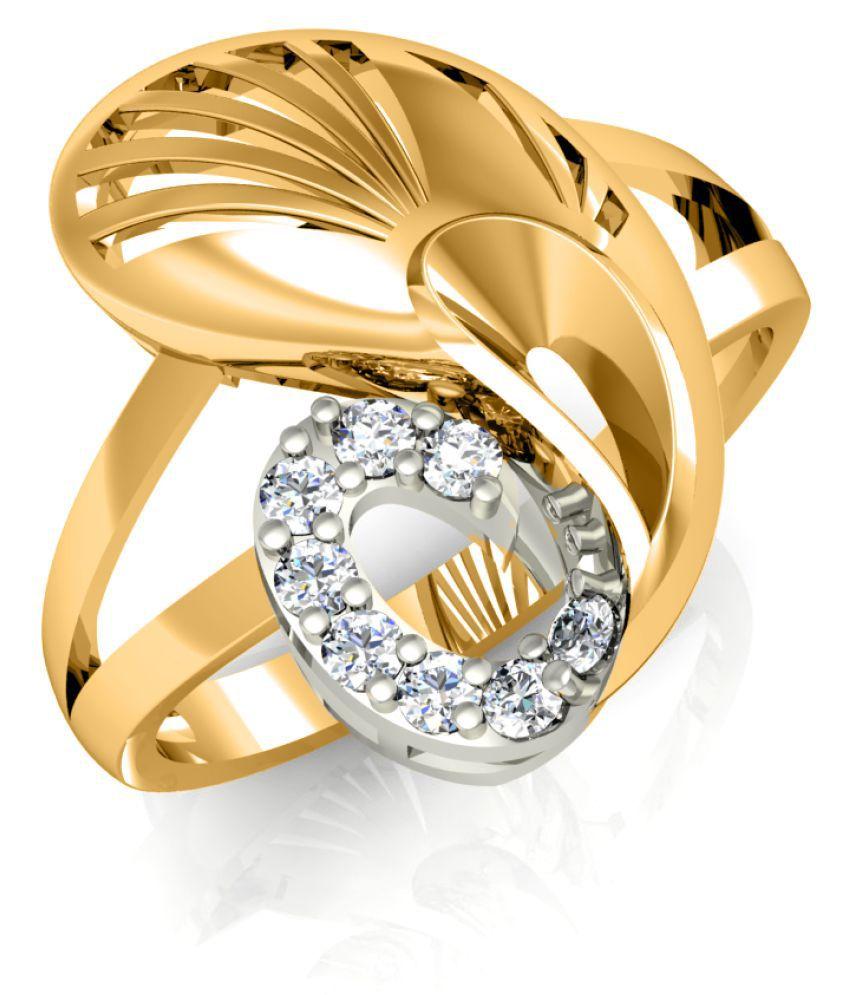 Diaonj 18k Yellow Gold Ring