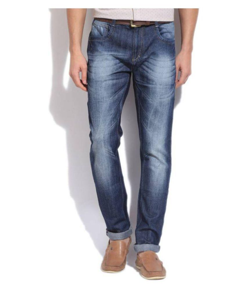 United Colors of Benetton Blue Slim Faded