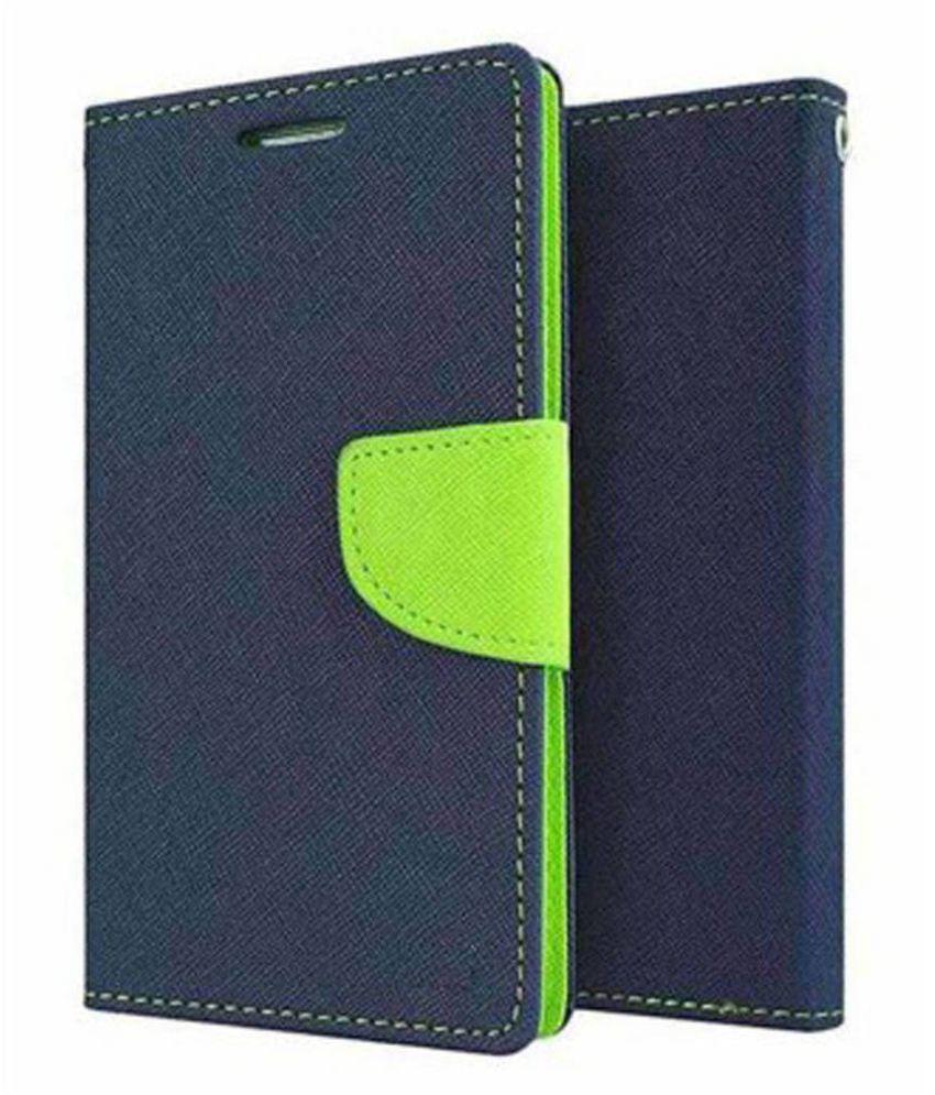 Samsung Galaxy E5 Flip Cover by MV - Blue