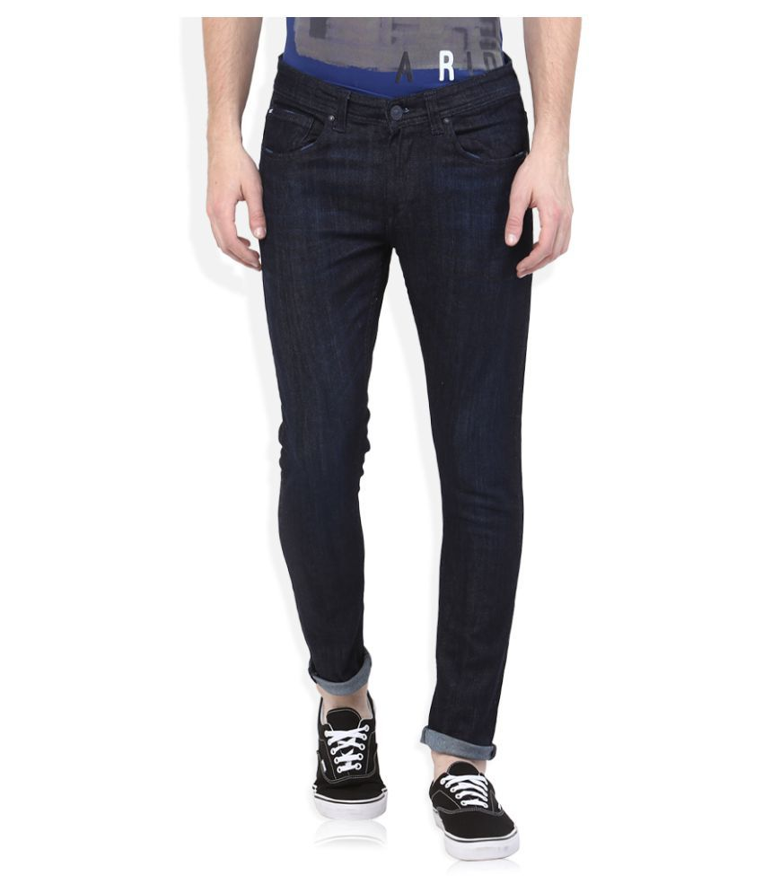 Spykar Blue Super Skinny Solid