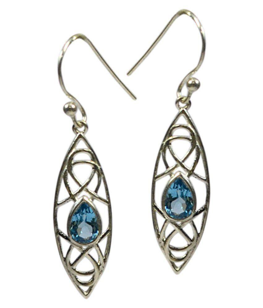 CCI 92.5 Silver Topaz Drop Earrings