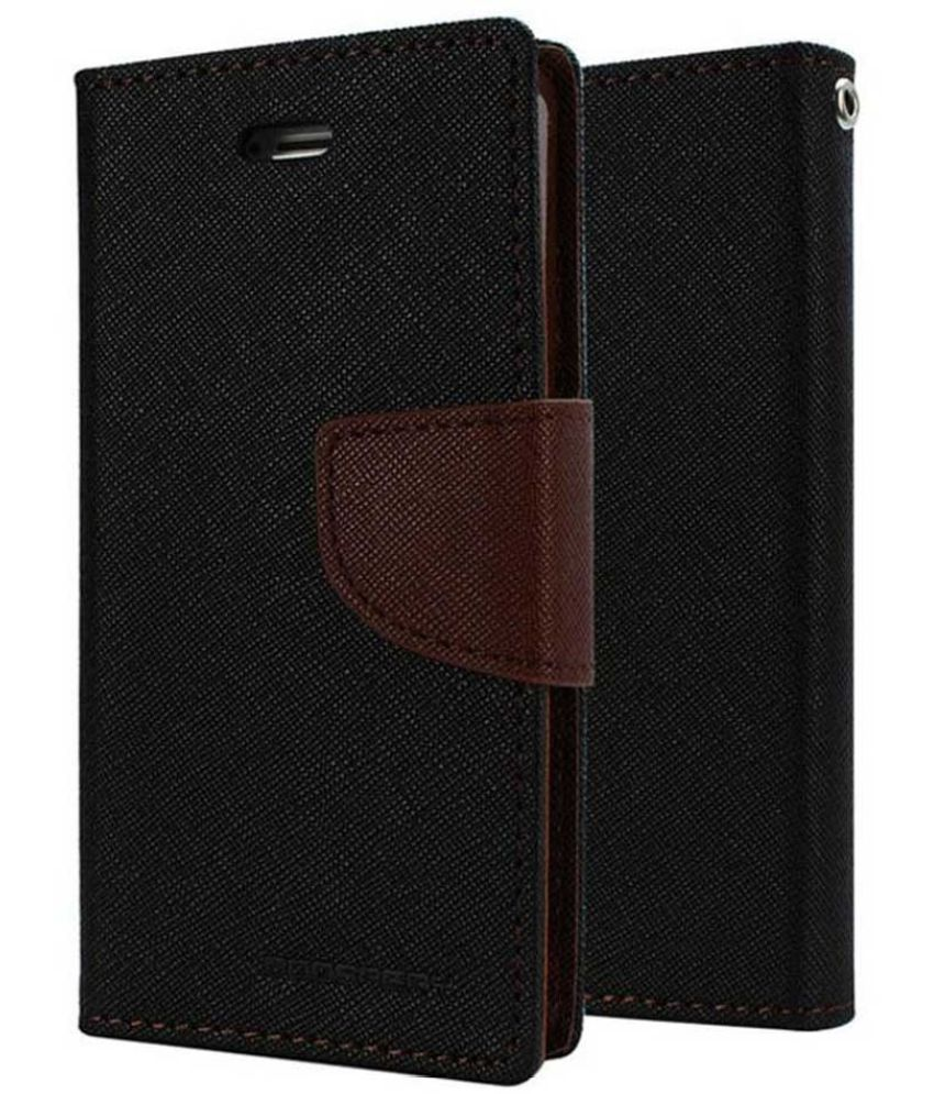 Samsung Galaxy E5 Flip Cover by Kulasri Empire - Black