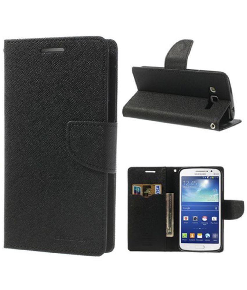 Samsung Galaxy Note 1 Flip Cover by Kulasri Empire - Black