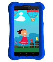 Pinig Kids Smart Tablet 0-5 With Blue Bumper Silver ( 3G + Wifi Voice Calling )