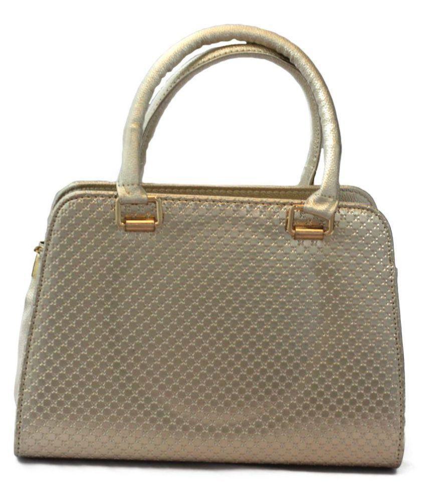 Bagshub Metallic Gold P.U. Shoulder Bag