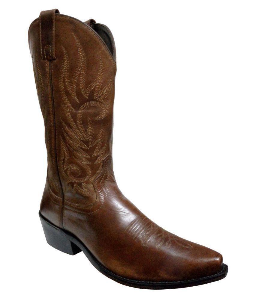 Maine Haiten Brown Cowboy boot