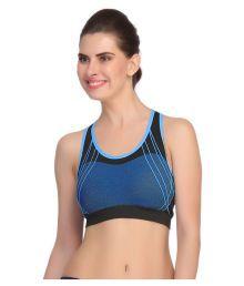 Gopalvilla Blue Nylon Sports Bras - 632155546533