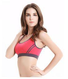 Dealseven Fashion Red Cotton Lycra Sports Bras - 686787717485