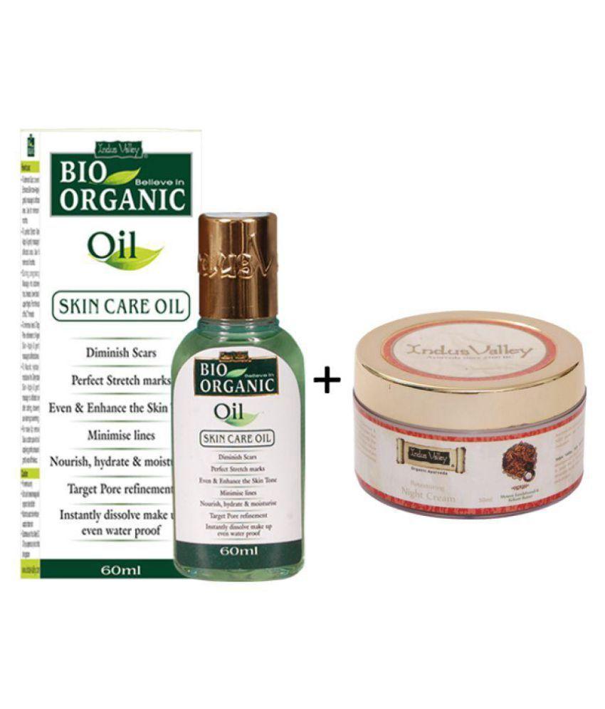 Indus Valley Bio Organic Oil & Hydrating Night Cream - Combo Set