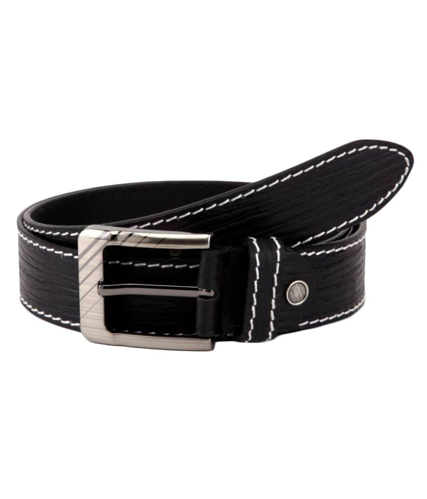 Daller Black Leather Casual Belts