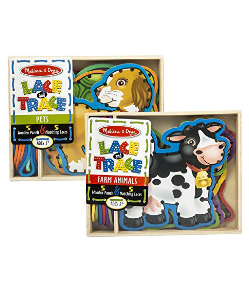 Melissa & Doug Lace and Trace Farm with Lace and Trace Pets