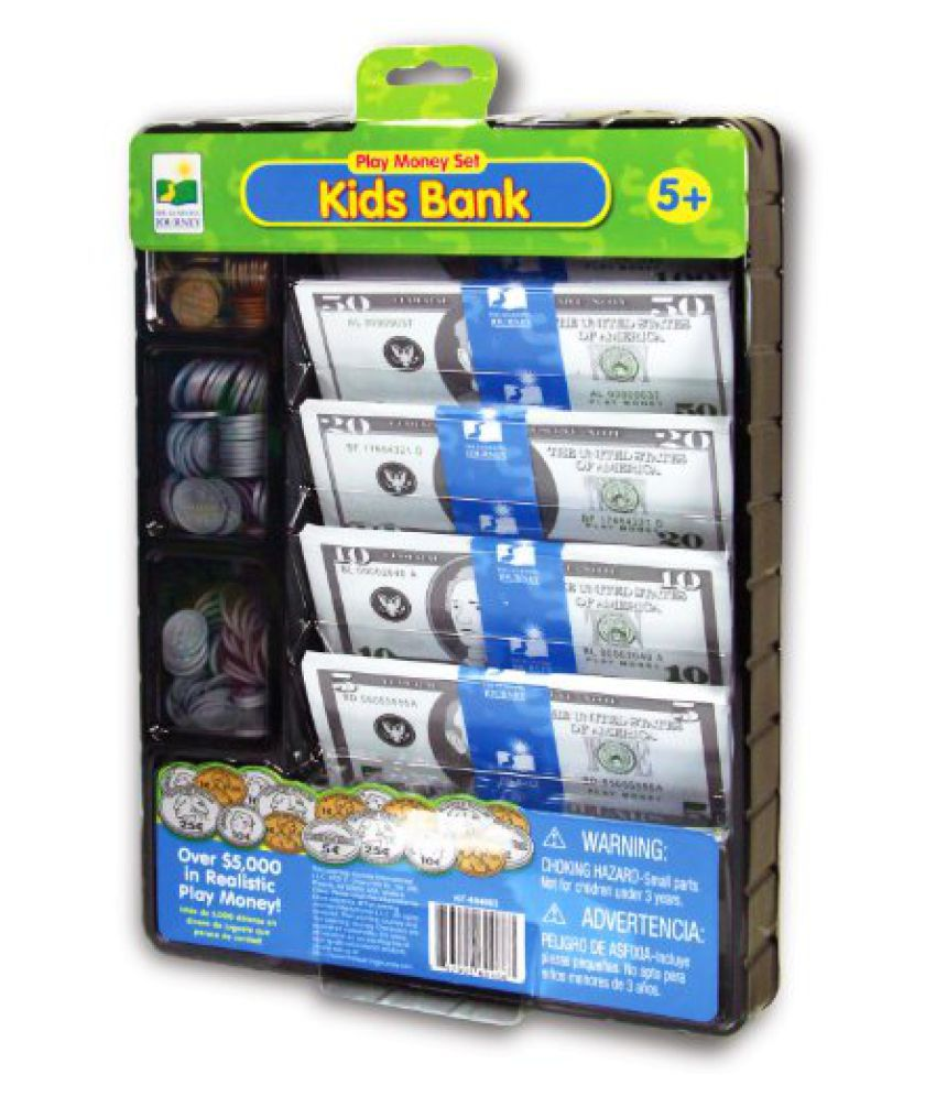The Learning Journey Kids Bank Play Money Set, Multi Color