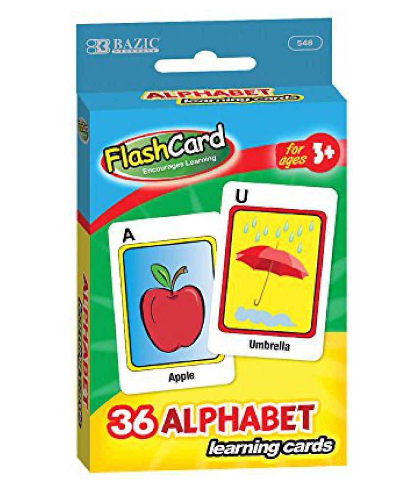 BAZIC Alphabet Preschool Flash Cards, 548-24 (36-Pack)