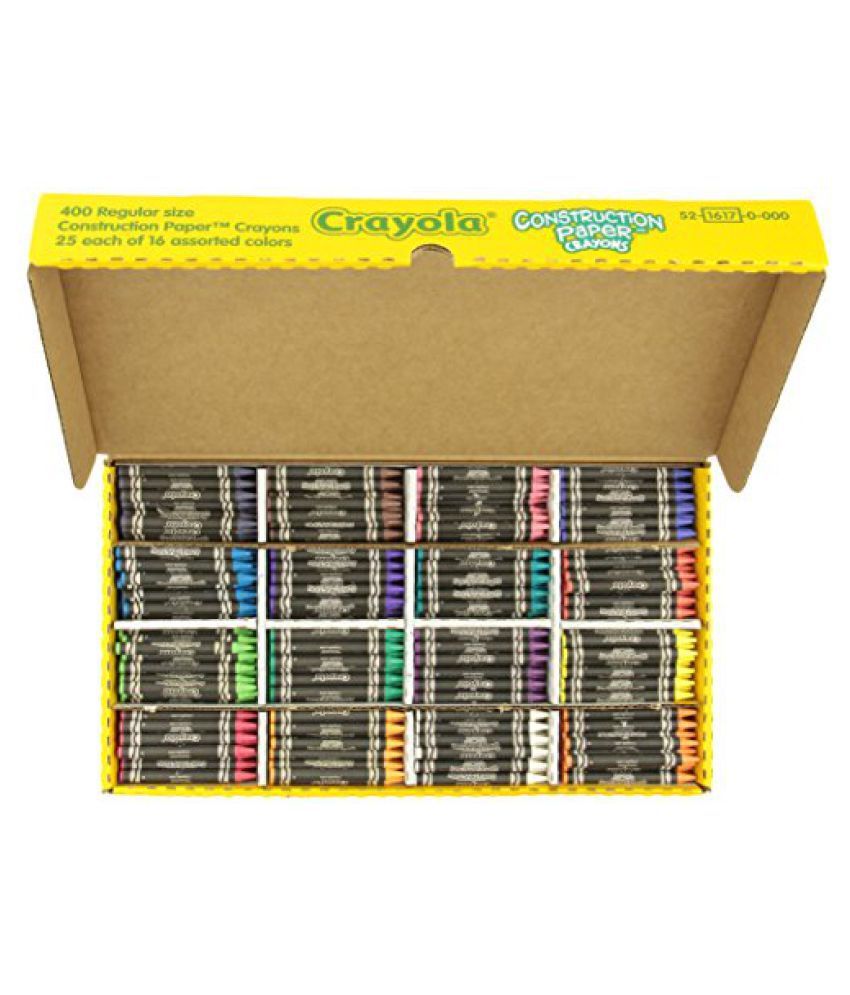 Crayola 52-1617 Class Pack Crayola Construction Paper Crayons, 25 ea. of 16 Colors, 400/Set