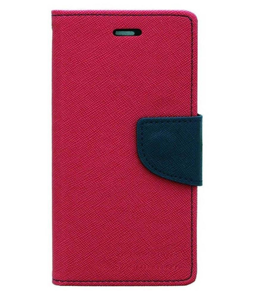 HTC One M9 Flip Cover by Top Grade - Pink