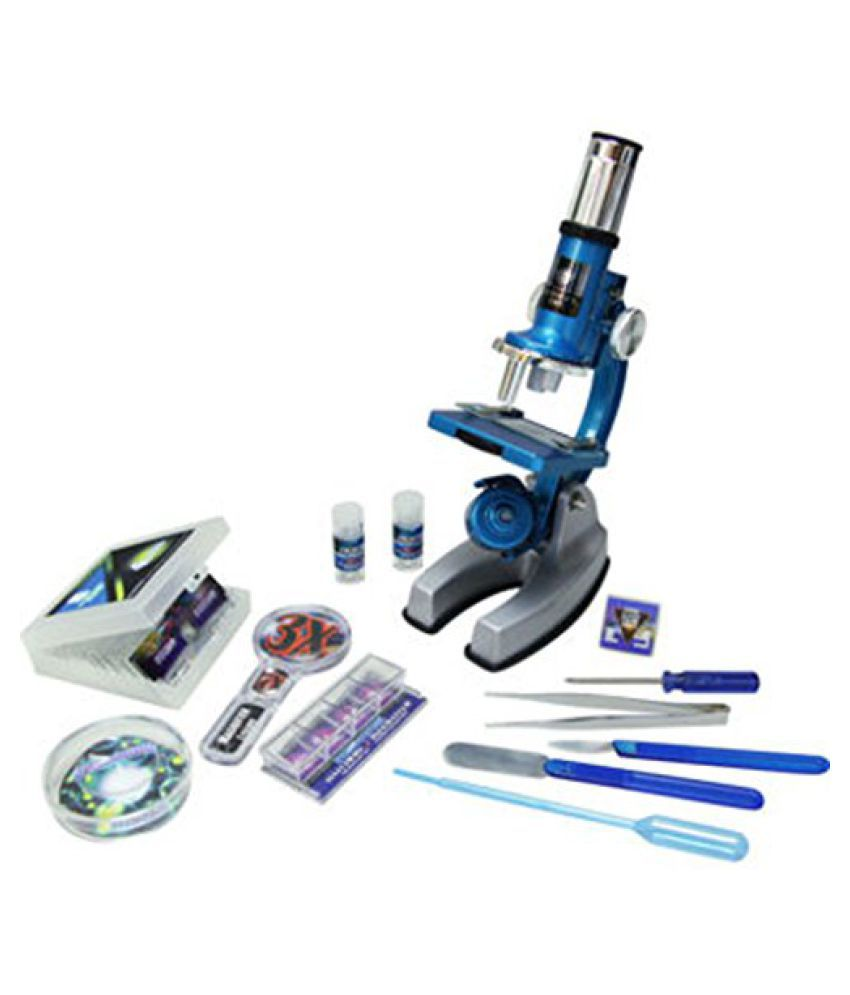 Roll over image to zoom in Deluxe Die-Cast 50 Pcs HD Microscope Set