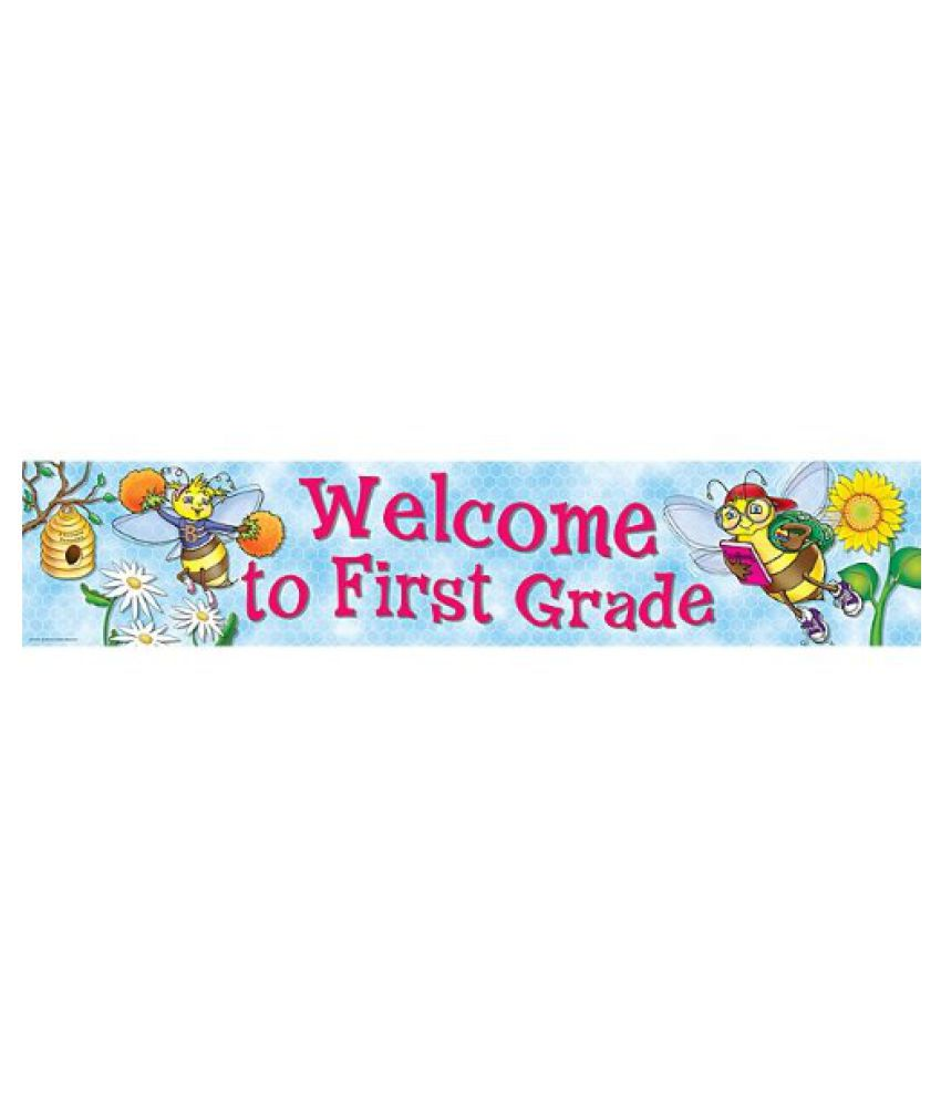 Teacher Created Resources Welcome to 1st Grd Banner, Multi Color (4571)