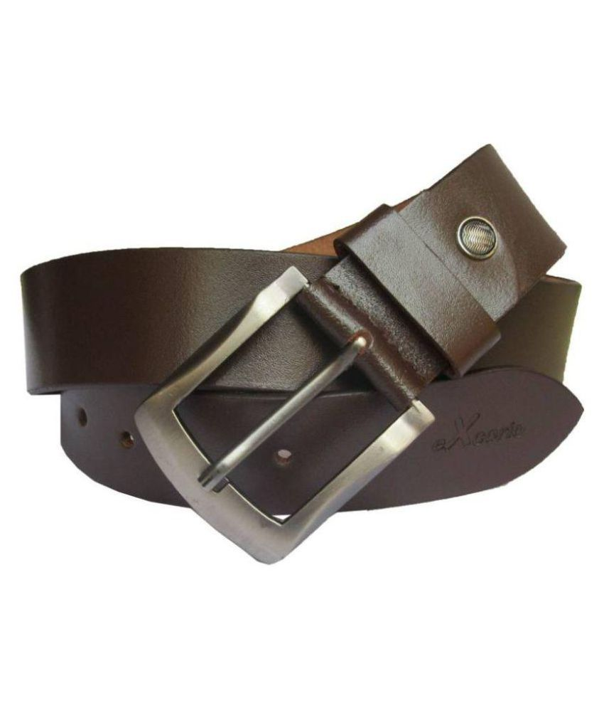 Daller Brown Leather Casual Belts