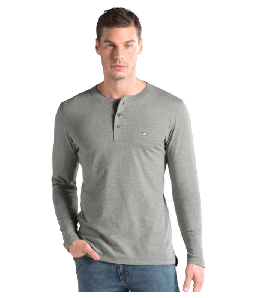 Jockey Grey Henley T-Shirt