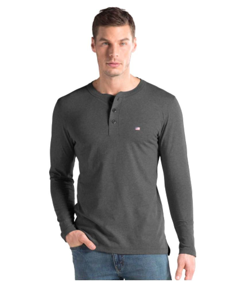 Jockey Grey Henley T-Shirt