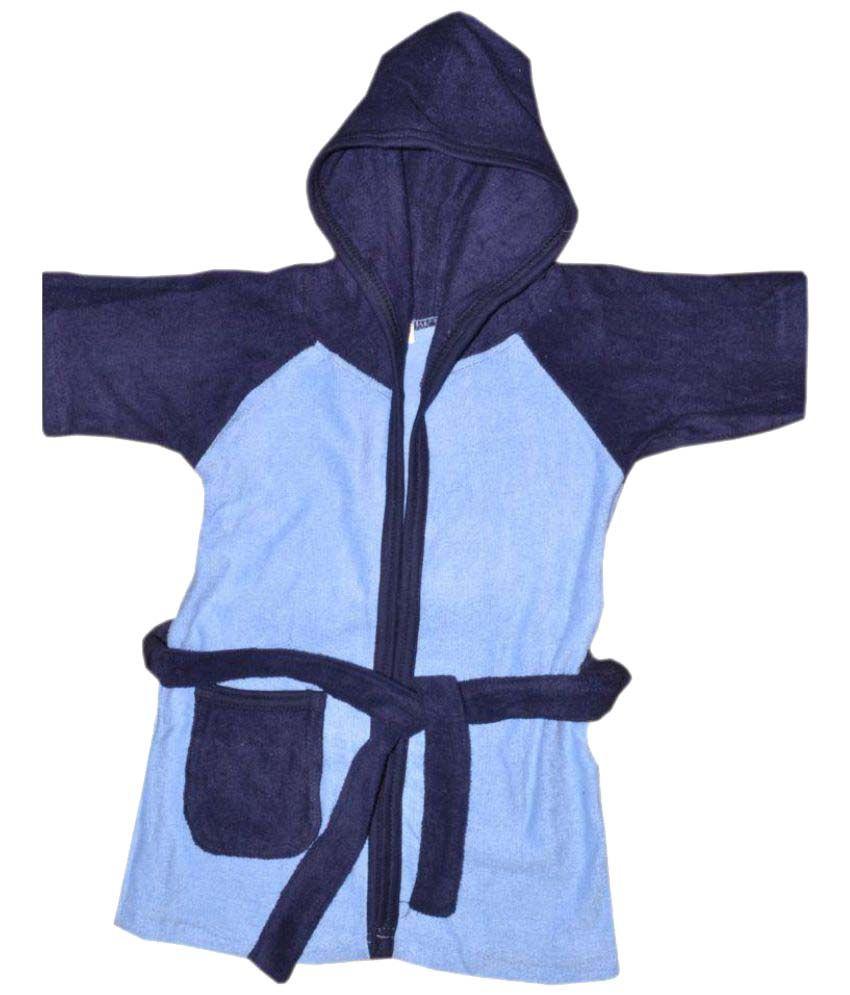 Rolex Enterprises Blue Cotton Bathrobes