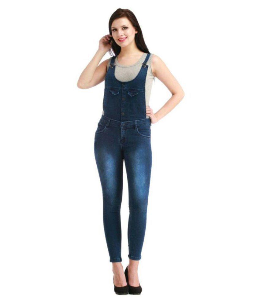 Western World Fashion Denim Jeans Dungarees - Blue