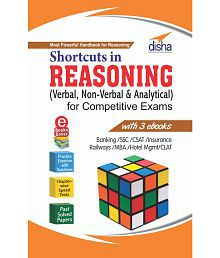 Shortcuts in Reasoning (Verbal & Non-Verbal) for Competitive Exams with 3 Ebooks