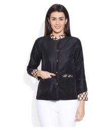 Very Me Black Polyester Blend Blazers
