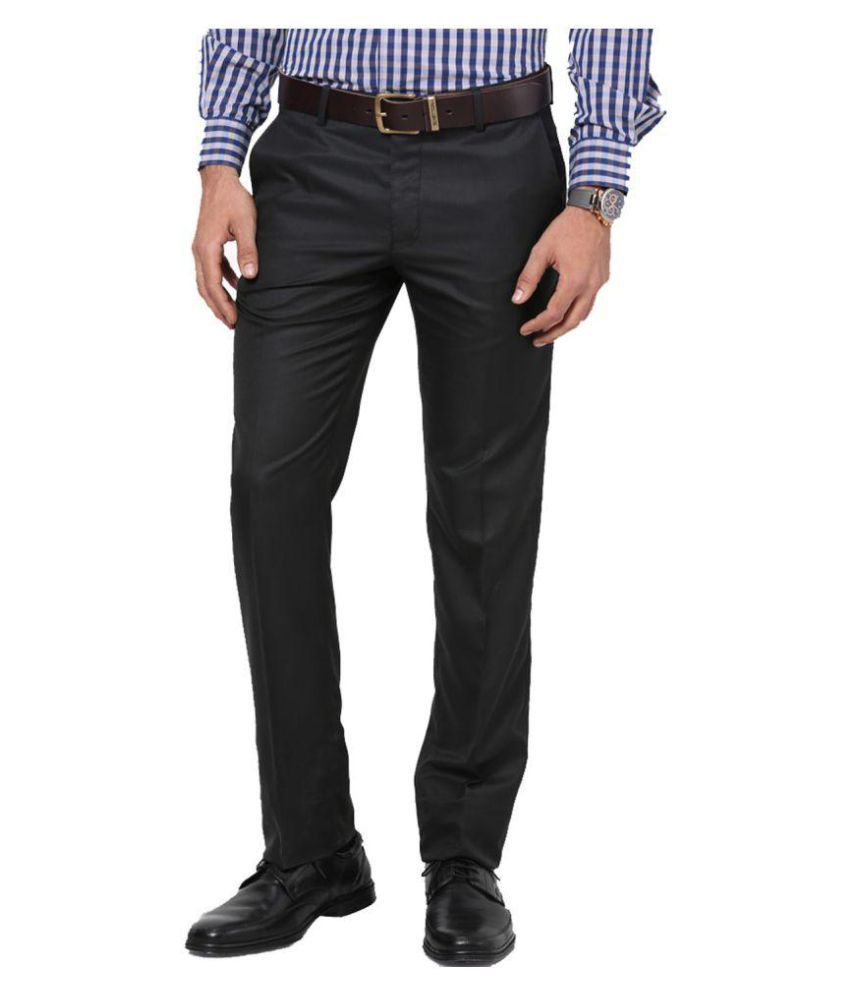 Lee Marc Black Regular Flat Trouser