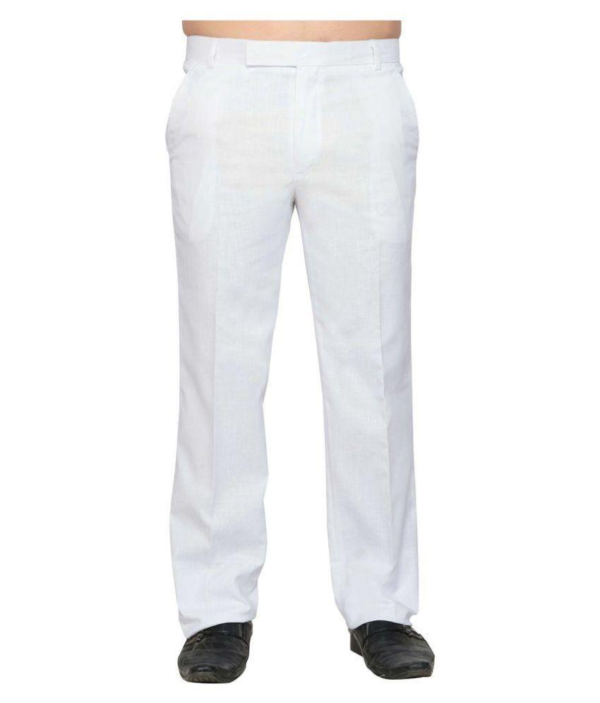 Lee Marc White Regular Flat Trouser