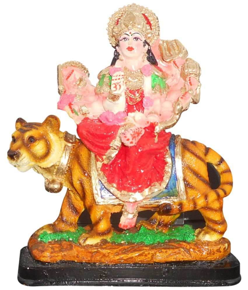 SkyTrends Durga Polyresin Idol