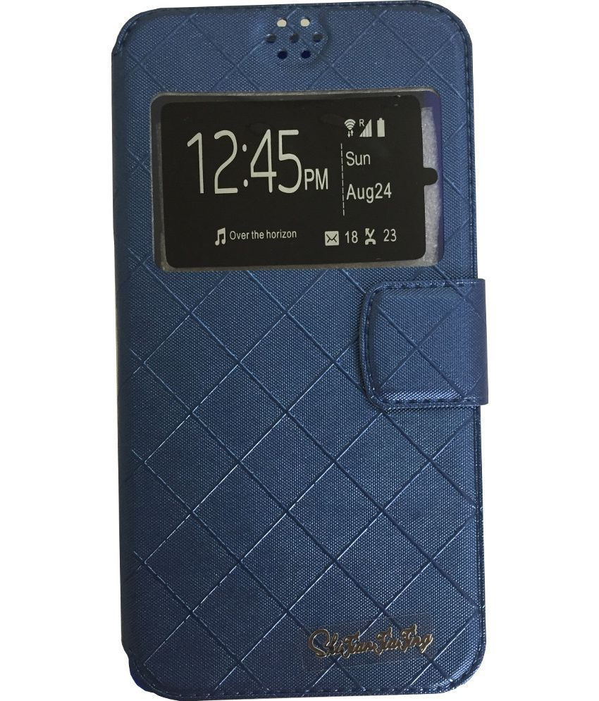 Coolpad Dazen 1 Flip Cover by Lomoza - Blue