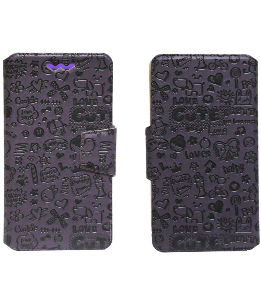 Huawei Mate 8 Flip Cover by Jojo - Purple