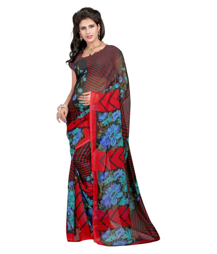 Shopper Pick Multicoloured Georgette Saree