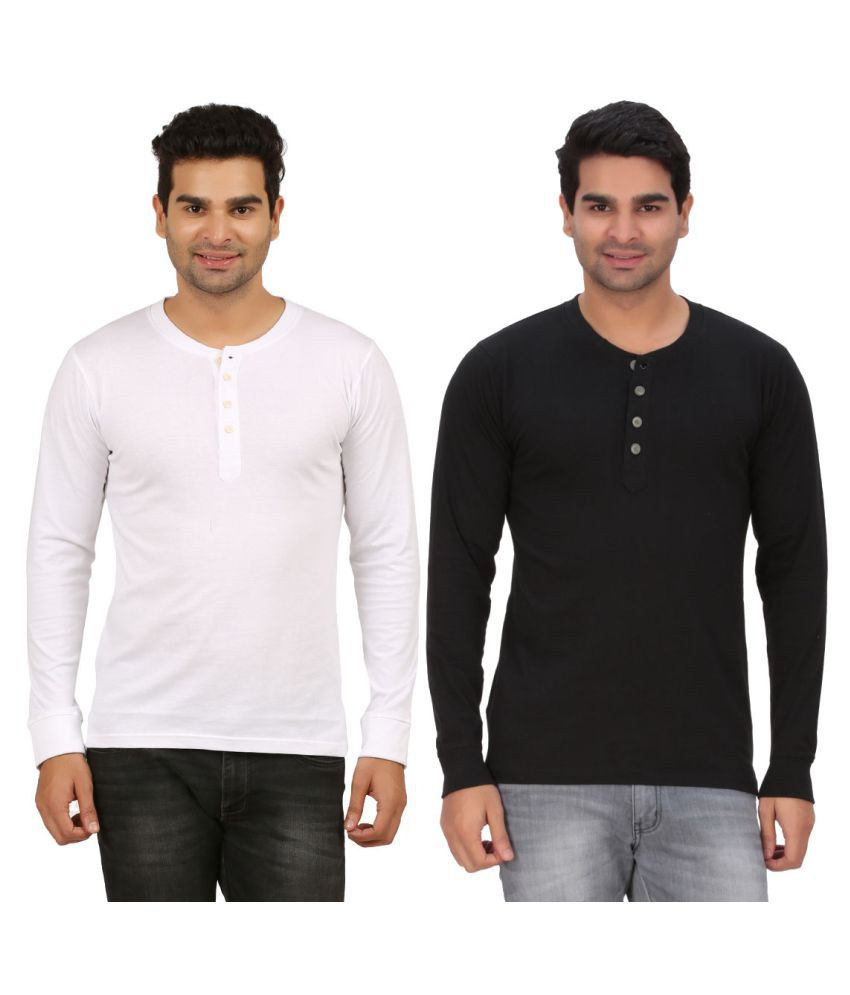 DNA Multi Henley T-Shirt Pack of 2