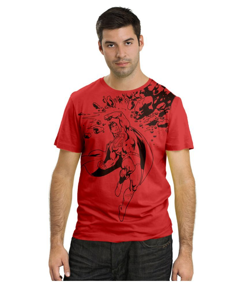 DNA Red Round T-Shirt