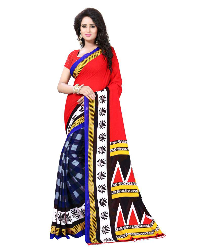 Dhruvil Impex Multicoloured Georgette Saree