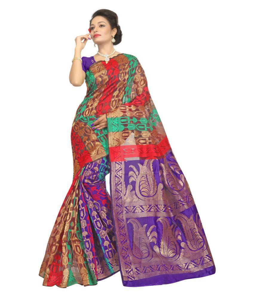 Fashionoma Multicoloured Art Silk Saree