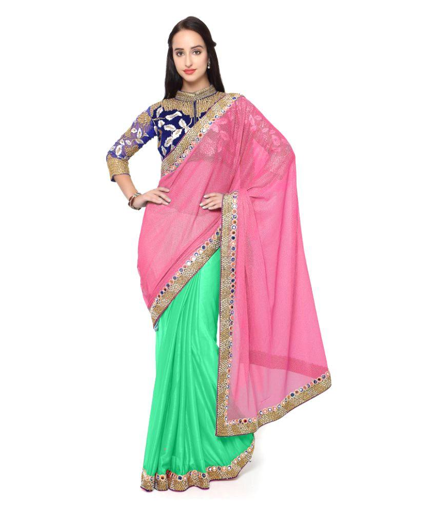 Triveni Multicoloured Lycra Saree