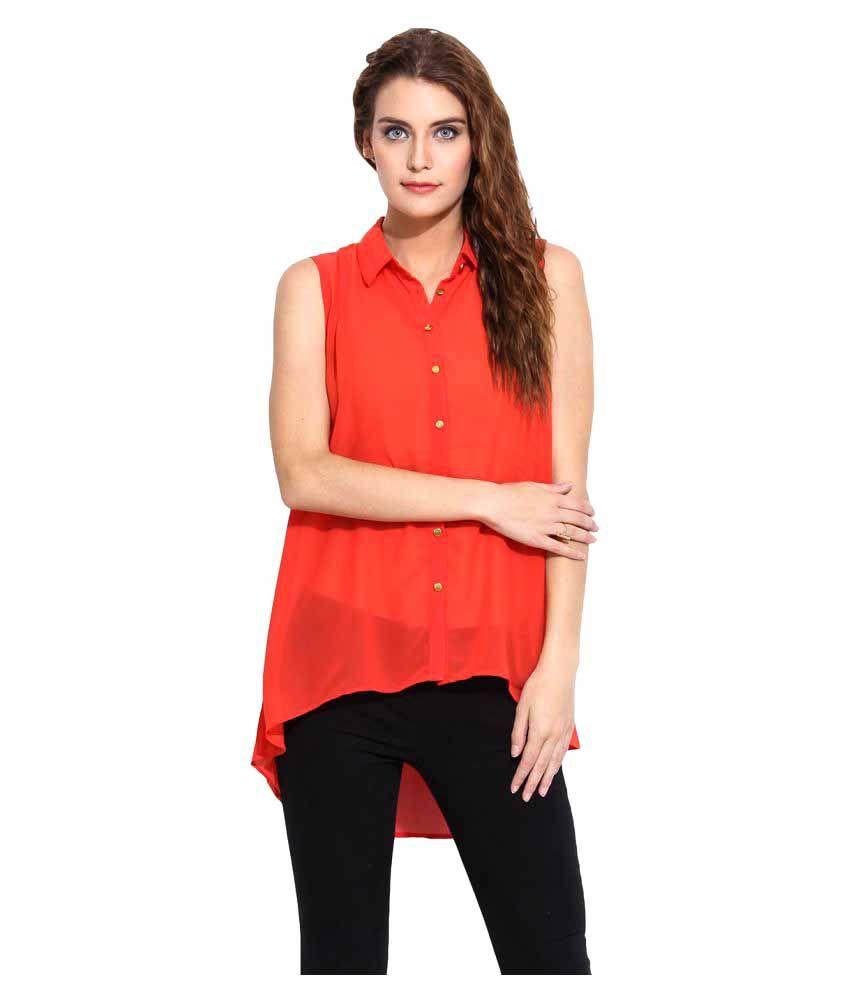 Mocking Bird Red Polyester Shirt