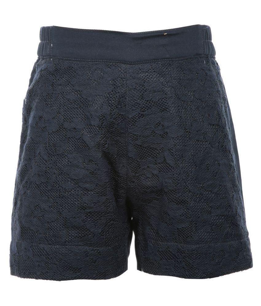 Posh Kids Navy 100% Cotton Hot Pants