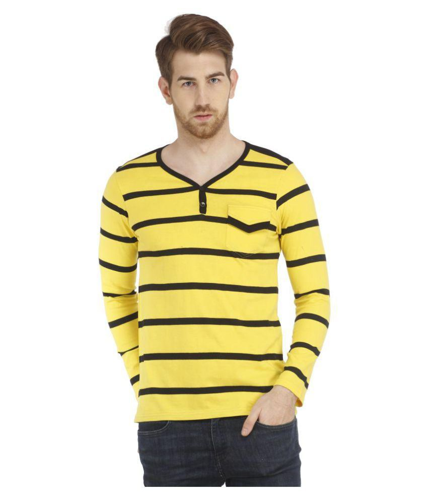 Rockhard Yellow Henley T-Shirt