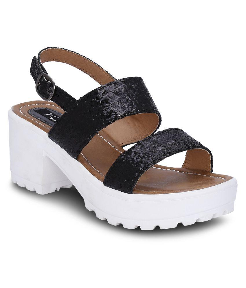 Kielz Black Block Heels