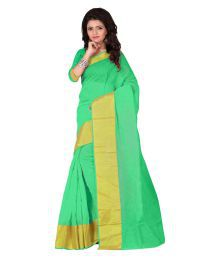 Manju Saree Green Chanderi Saree