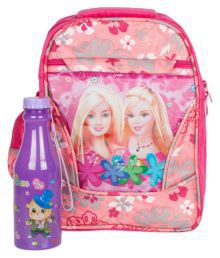 Uxpress Pink Combo School Bag With Water Bottle