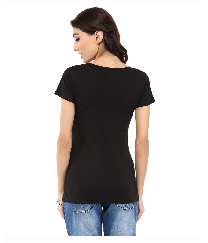 Black t shirt yepme -  Yepme Black Cotton T Shirts