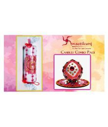 Swastikunj Multicolour Candles With Hand Made Henna Design - Pack Of 2